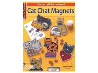 Leisure Arts Plastic Canvas Cat Chat Magnets Book