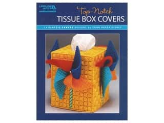 Leisure Arts Top-Notch Tissue Box Covers Plastic Canvas Book