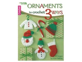 books & patterns: Leisure Arts Ornaments To Crochet 3 Ways Book