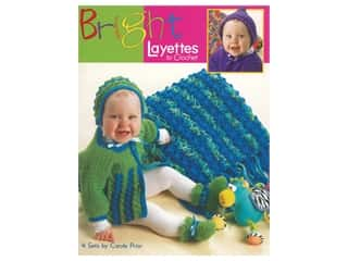 Leisure Arts Bright Layettes To Crochet Book