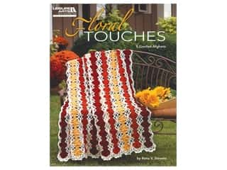 floral & garden: Leisure Arts Floral Touches 5 Crochet Afghans Book
