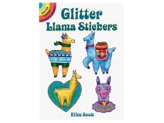 Dover Publications Little Glitter Llama Stickers Book