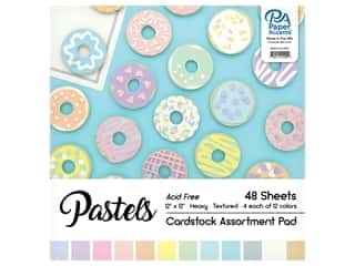 Paper Accents 12 x 12 in. Cardstock Pad 48 pc. Pastel