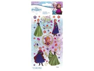 EK Disney Sticker Frozen Anna Flowers