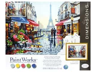 craft & hobbies: Paint Works Paint By Number Kit 20 in. x 16 in. Paris Flower Shop