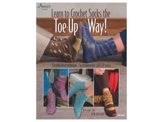 Annie's Learn To Crochet Socks The Toe Up Way Book