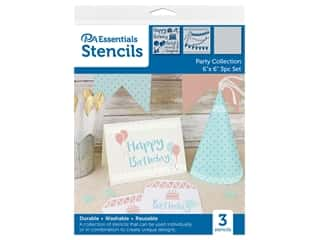 PA Essentials Stencil 6 in. x 6 in. Party Collection 3 pc