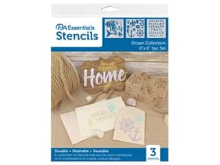 craft & hobbies: PA Essentials Stencil 6 in. x 6 in. Ocean Collection 3 pc