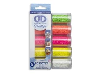 Diamond Dotz Freestyle Gems Sampler Pack 5 pc. Neon