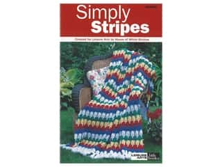Leisure Arts Crochet Simply Stripes Book
