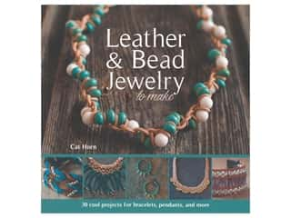 beading & jewelry making supplies: Barrons Leather & Bead Jewelry To Make Book