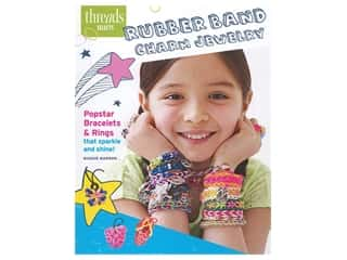 beading & jewelry making supplies: Taunton Press Threads Selects Rubber Band Charm Jewelry Book