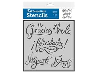 PA Essentials Stencil 6 in. x 6 in. Spanish Phrases