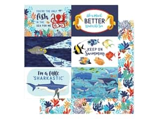 "scrapbooking & paper crafts: Carta Bella Fish Are Friends Paper 12""x 12"" Journal Cards 4""x 6"" (25 pieces)"