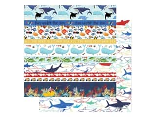 "scrapbooking & paper crafts: Carta Bella Fish Are Friends Paper 12""x 12"" Border Strips (25 pieces)"