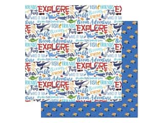 "Carta Bella Fish Are Friends Paper 12""x 12"" Ocean Words (25 pieces)"