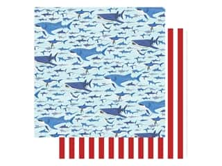 "Carta Bella Fish Are Friends Paper 12""x 12"" Shark Swim (25 pieces)"