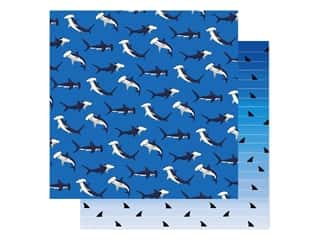 "Carta Bella Fish Are Friends Paper 12""x 12"" Shark Dance (25 pieces)"