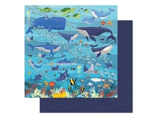 "Carta Bella Fish Are Friends Paper 12""x 12"" Underwater Scene (25 pieces)"