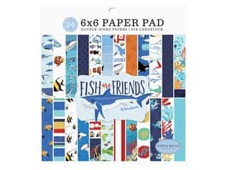 "Carta Bella Fish Are Friends Paper Pad 6""x 6"""