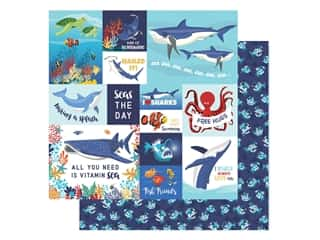 "scrapbooking & paper crafts: Carta Bella Fish Are Friends Paper 12""x 12"" Multi Journal Cards (25 pieces)"