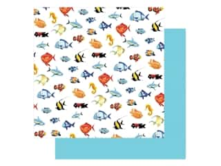 "Carta Bella Fish Are Friends Paper 12""x 12"" Fish March (25 pieces)"