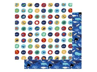 "Carta Bella Fish Are Friends Paper 12""x 12"" Sea Circles (25 pieces)"
