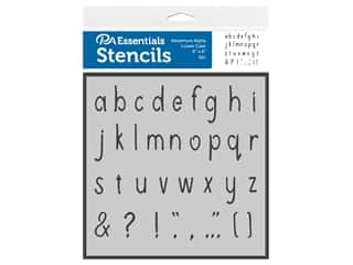 PA Essentials Stencil 6 in. x 6 in. Adventure Alpha Lower Case