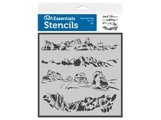 craft & hobbies: PA Essentials Stencil 6 in. x 6 in. National Parks
