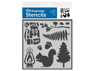 craft & hobbies: PA Essentials Stencil 6 in. x 6 in. Forest Elements