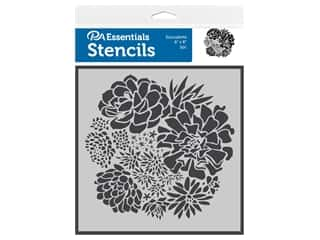 craft & hobbies: PA Essentials Stencil 6 in. x 6 in. Succulents