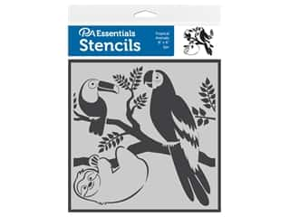 craft & hobbies: PA Essentials Stencil 6 in. x 6 in. Tropical Animals
