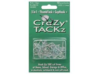 Crazy Tackz Tack With A Hook Round Clear 12 pc