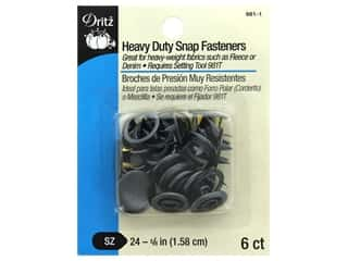 Dritz Snap Heavy Duty Size 24 Black (3 packages)