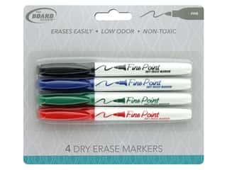 The Board Dudes Dry Erase Marker Fine Point 4 pc. Blue/Black/Green/Red