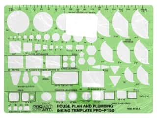 Pro Art Template Inking House Plan And Plumbing .25 in. Scale