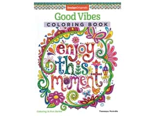 books & patterns: Design Originals Good Vibes Coloring Book