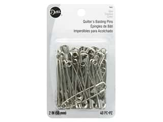 Quilter's Safety Pins by Dritz Nickel 40 pc