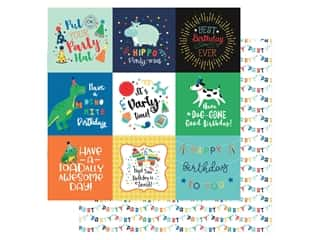 Echo Park Its Your Birthday Boy Collection Paper 12 in. x 12 in. Journaling Cards 4 in. x 4 in. (25 pieces)