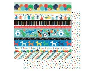 Echo Park Its Your Birthday Boy Collection Paper 12 in. x 12 in. Border Strips (25 pieces)