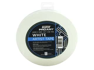 glues, adhesives & tapes: Pro Art Tape Artist .5 in. x 60 yd White