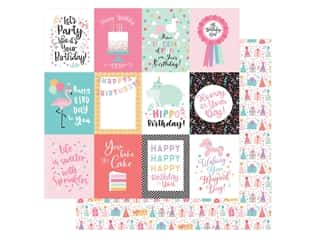 Echo Park Its Your Birthday Girl Collection Paper 12 in. x 12 in. Journaling Cards 3 in. x 4 in. (25 pieces)