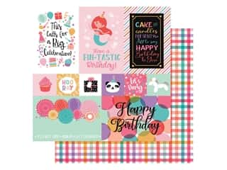 Echo Park Its Your Birthday Girl Collection Paper 12 in. x 12 in. Journaling Cards Multi (25 pieces)