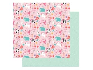 Echo Park Its Your Birthday Girl Collection Paper 12 in. x 12 in. Party Animals (25 pieces)