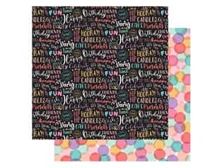Echo Park Its Your Birthday Girl Collection Paper 12 in. x 12 in. Girl Words (25 pieces)