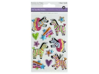 Multicraft Sticker Foil Sparkle Zebra