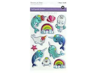 Multicraft Sticker Foil Sparkle Narwhal
