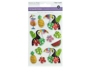 Multicraft Sticker Foil Sparkle Toucan
