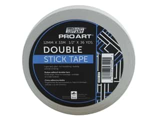 glues, adhesives & tapes: Pro Art Tape Double Stick Adhesive .5 in. x 36 yd