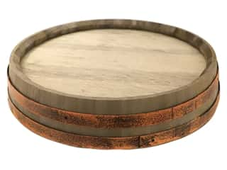 "Sierra Pacific Decor Wall Art Wine Barrel Lid 15.75""x 3.25"""